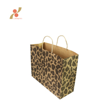 customized printing brown kraft paper gift shopping bags wholesale with handle