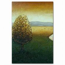 High quality abstract tree scenery easy oil painting pictures supplies