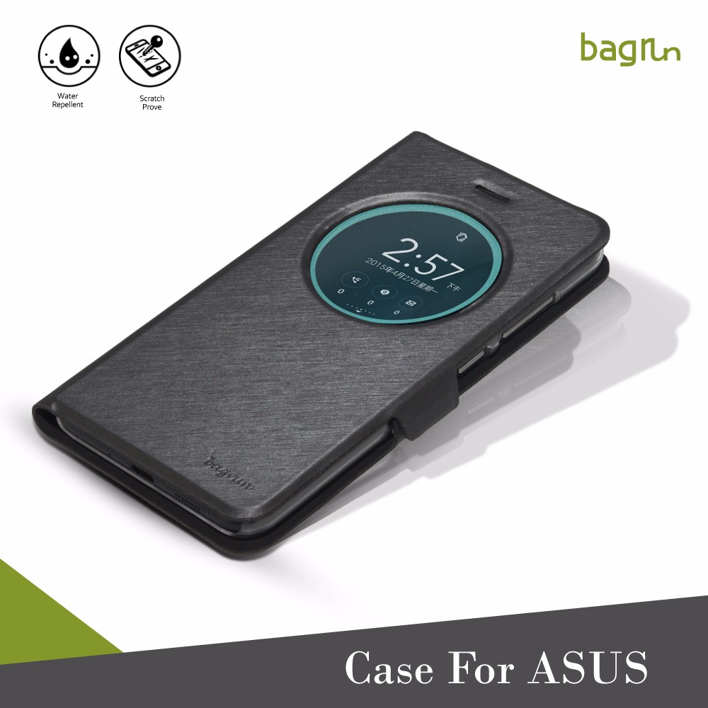 Hot Sale Black Leather PU Cell Phone Case For ASUS