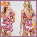 custom make your own short jumpsuit sexy,high quality printed women jumpsuit