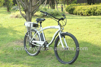 26inch hot sale ce pass aluminum top quality beach cruiser electric bike