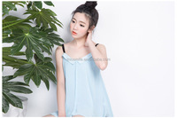 S31153A Stylish tops for women A-line sexy v-neck wrinkle fashion vest