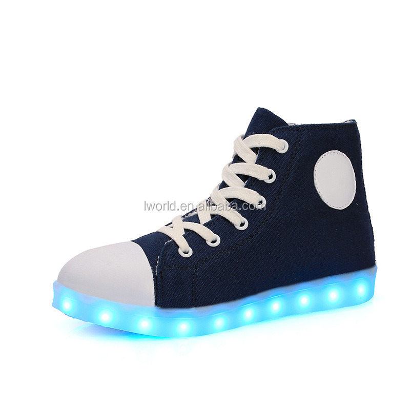 High top new fashion led shoes young fashion light up shoes cool dancing led lights for shoes