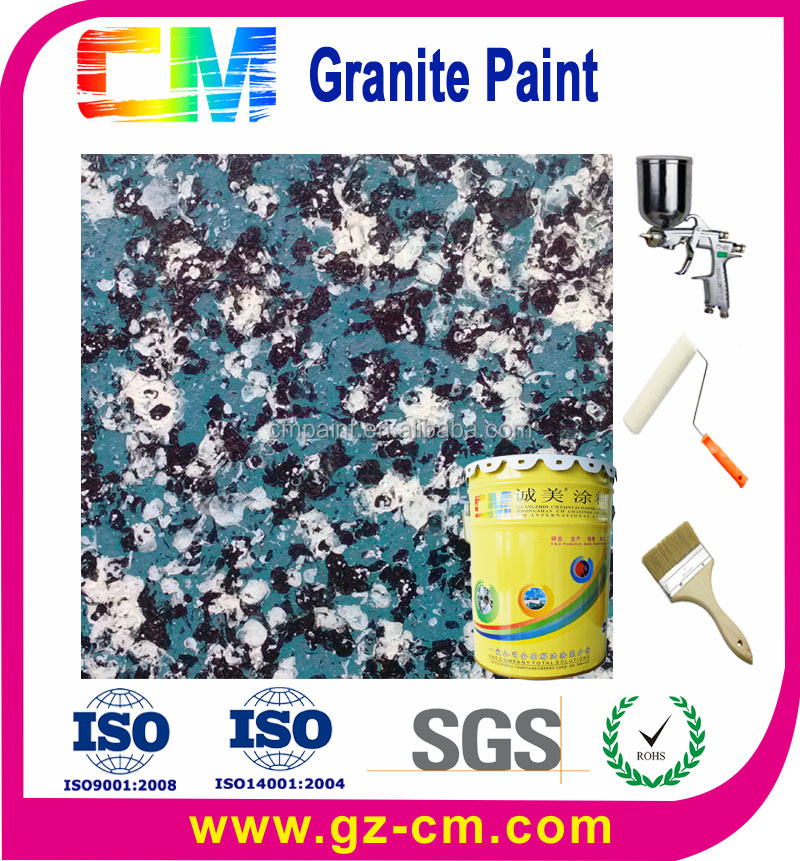 waterbone spraying multicolor Granite Wall Paint with no radiation
