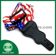 HS217 Free design US flag guitar strap customized