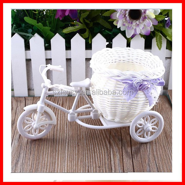 2016 Elegant House Decoration Table Decoration 100% Handmade Bike Flower Basket