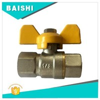 Brass Mini Ball Valve With Butterfly