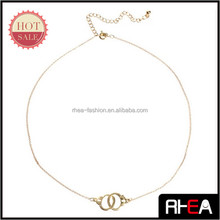 Best Sale Yiwu Market Handcuffs Pendant Necklace China imitation Jewelry