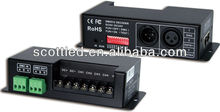 12-24v dmx 512 decoder,dimming signal converter,output 4 channel,dimmable 0-100%