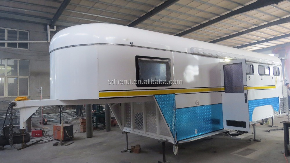 2 or 3 horse trailer gooseneck floats for sale with Australia standard
