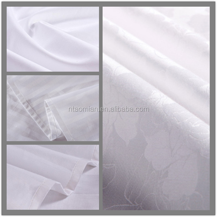 cotton and polyester blended fabric pure white blend fabric