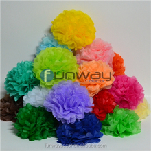 Multi Color Tissue Paper Pom Poms for Party Event Decoration Wedding Hanging Flower Balls