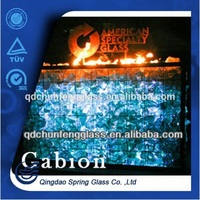glass for campfire fire pit decoration