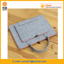 Wool felt notebook office Laptop Computer messenger Tote Bag