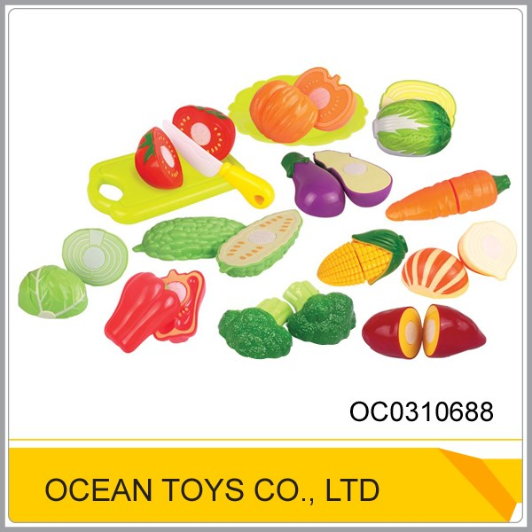 Factory price plastic fruit cutting games pretend toys to kids