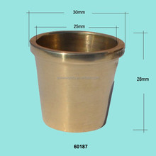 Wholesale small round brass chair caster cups
