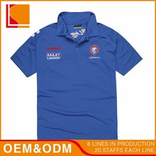 Supplier Big Blue Custom Polo T shirt No Minimum