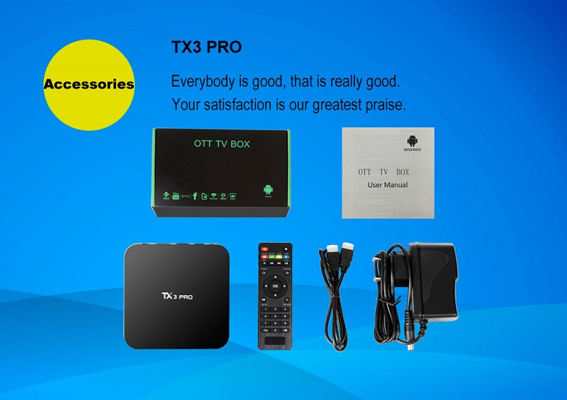 TX3 PRO Android 6.0 Amlogic S905X tv box mini free porn video watch wifi ott tv box VP9 HDR 4K KODI H.265