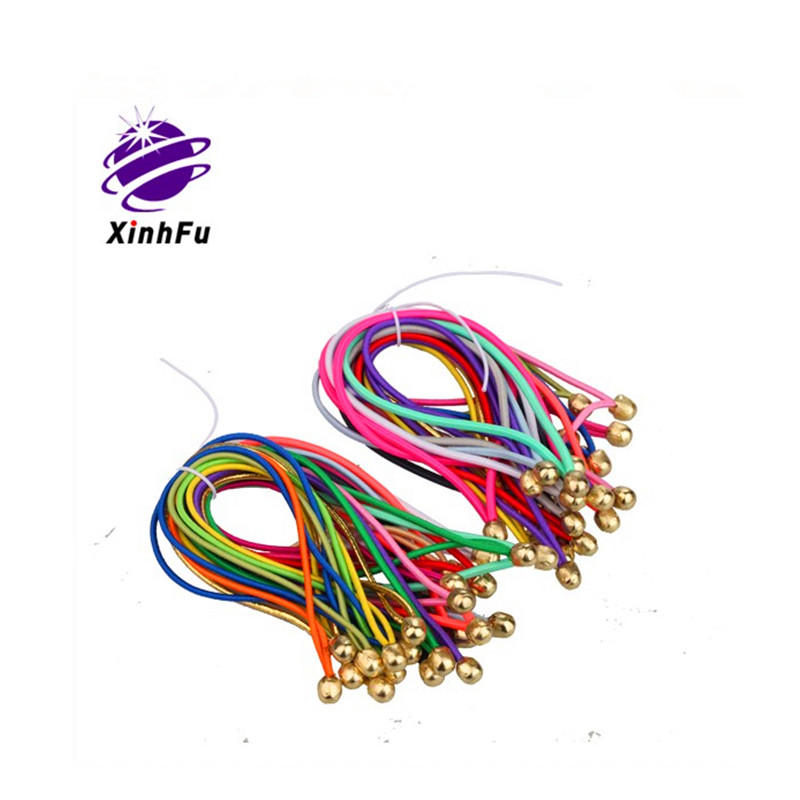 Custom color elastic rope cord with metal ball ends