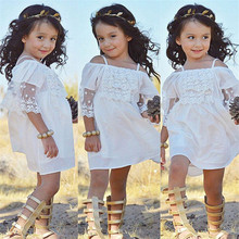 New Summer Baby Girl Toddler Lace Clothing Dress For Infant Floral Princess Dress Children's Dresses kids Clothin