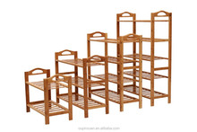 2014 New product Bamboo shoe rack ,bamboo storage rack