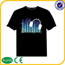 Most popular sound activated led t shirt wholesale
