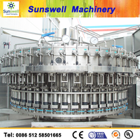 carbonated drink bottle washing filling capping machine 3 in 1