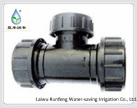 quik slip connections and tees used for agricultural irrigation pipe tube