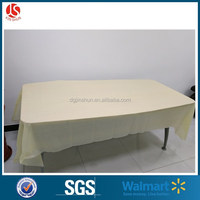 Customized Fancy Wedding / Hotel / Party Waterproof Disposable Plastic PEVA table cloth