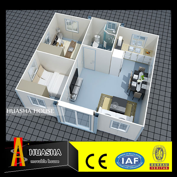 Furnitures of prefab house with custom ready made villa