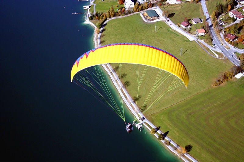 Processing paragliders with available materials or given materials or design prototype