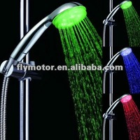 7 colors plastic temperature detectable led shower head with CE and ROHS Certification LD8008-A6