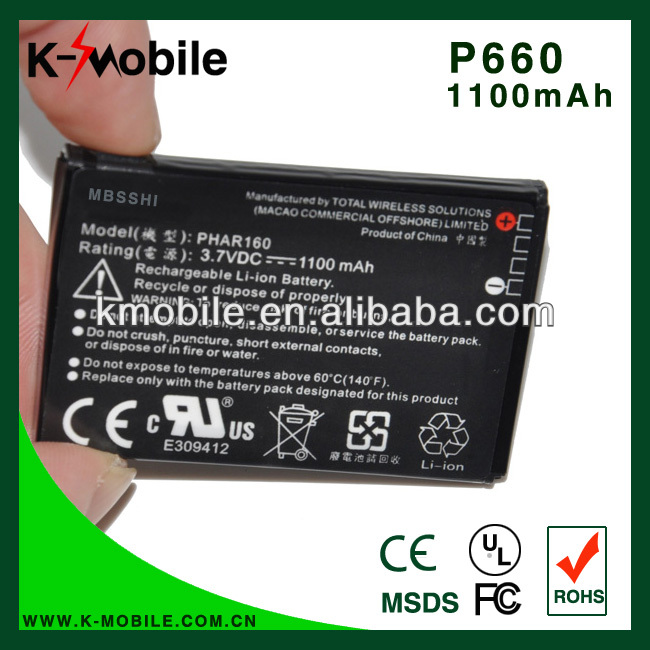 Best Lithium Battery P660 for HTC P660/P3470 T2222/T2223/ Touch Viva310/565/566/ 568/575/585/595/596