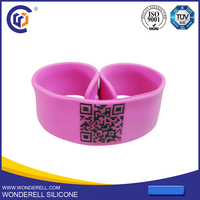 china factory price engravable silicone tag QR id bracelets for diabetics