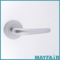 Satin chrome and Zinc Designer Door Knob Lever
