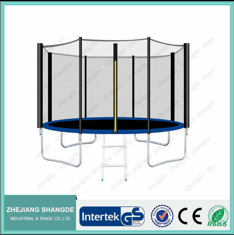 cheap fitness 12ft large trampoline equipment with safety enclosure