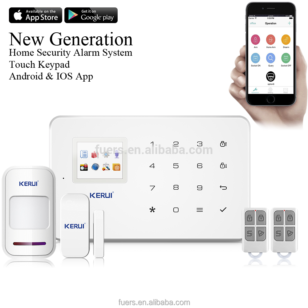 KERUI APP 433Mhz Sensor Dual-network GSM Door Sensor Home Burglar Security <strong>Alarm</strong>
