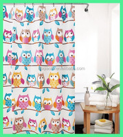 Fashion Environmental Protection Strigiformes Printed Shower Curtain