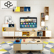 Home Designs Modern Living Room Partition Tv Stand Customized Size Furniture Wall Tv Cabinet