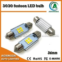 Hot selling super white car lamp 3030SMD festoon C5W LED canbus 36mm
