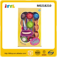 16pcs Educational diy baby play ice cream maker toy for wholesale