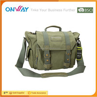Wholesale Custom DSLR Camera Laptop Canvas Messenger Bag Video Camera Bag
