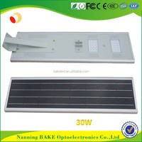 2 years warranty competitive price sensor motion integrated solar street lights with 30 watt led
