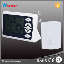 High Quality Room WireleTwo Programs Digital Floor Heating Wireless Thermostat With Probe