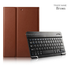 Good texture/good hand feel Folio five colors synthetic pu leather bluetooth keyboard tablet cover for Apple iPad Air