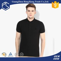 Polo neck handsome black bulk wholesale t shirts