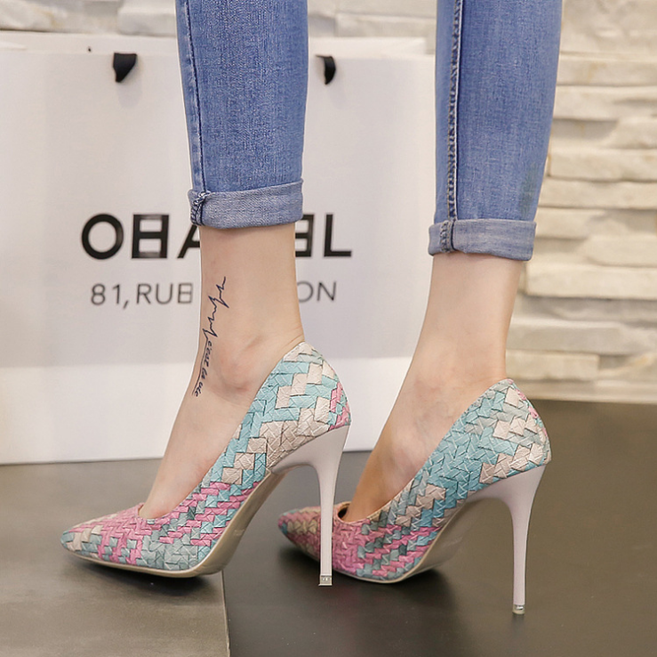New Fashion Women Nude shoes perfect neutral Multi Color High Heeled Shoes