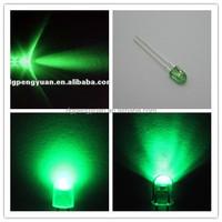 high brightness 3mm 5mm oval green led