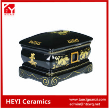 Pet application ceramic cremation urns for ashes