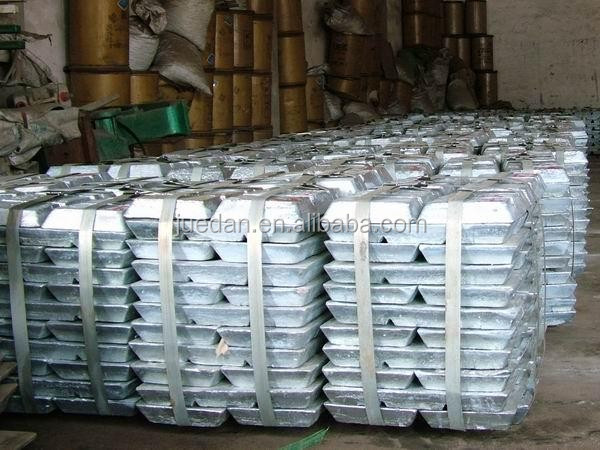 zinc 99.995% 99.99% 99.9% with pure zinc ingot alloy zinc ingot